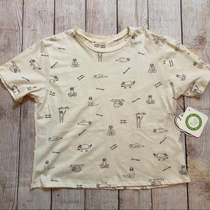NWT french parry sloth shirt M